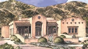 southwest style house plans pueblo house plans and pueblo designs at builderhouseplans