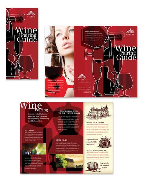 vineyard winery tri fold brochure template