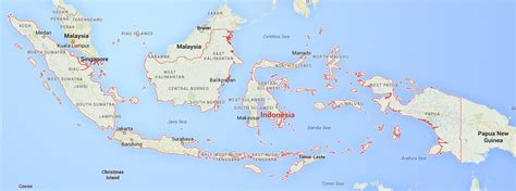 indonesia map google maps  indonesia project
