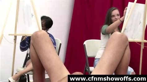 Big Cock Dude Naked For Cfnm Amateur Babes In Art Class Eporner