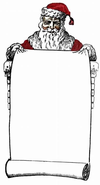 Santa Clip Sign Victorian Clipart Christmas Graphics