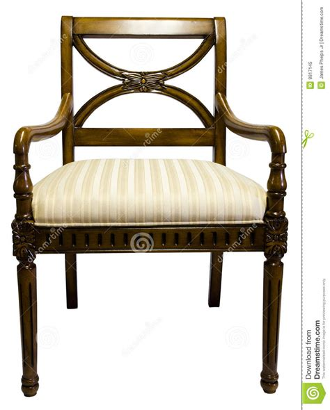 cherry wood accent chair royalty free stock photo image