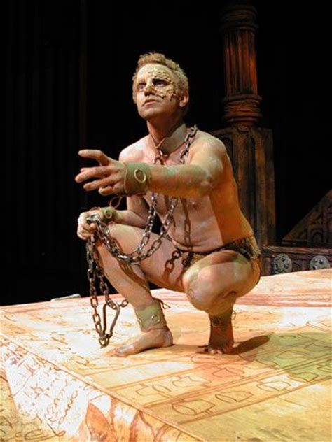 the tempest modern the tempest caliban i like the idea of him in chains or ropes or both the tempest