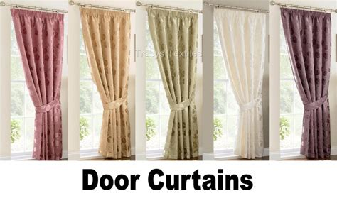 linby pencil pleat lined door curtain many colours 66