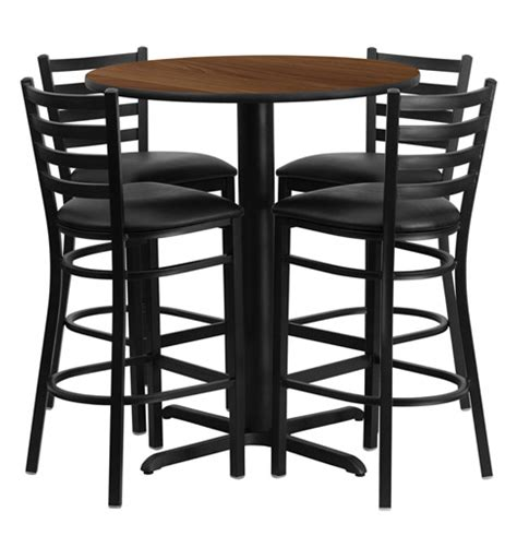 round bar height table and chairs bar height round dining table set with 4 bar stool chairs