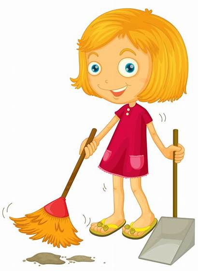 Cleaning Clipart Cartoon Clip Lady Cleanliness Background