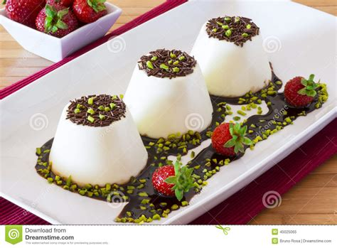italian dessert called panna cotta stock photo image 45025065
