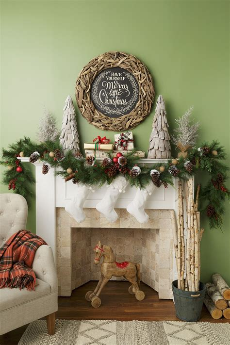 love  sweet wooden horse  christmas fireplace