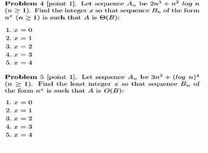 Problem 4   Let Sequence An Be 2n 3   N 2 Log N  N