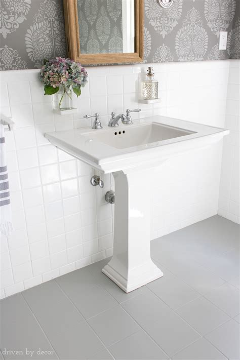 How I Painted Our Bathroom's Ceramic Tile Floors A Simple. Living Room Single Chairs. Badcock Living Room Furniture. Living Room Rugs On Sale. Window Treatments For Large Living Room Windows. Yellow Living Room Curtains. Modern Living Room Sofa. Computer Desk For Living Room. Living Room Painting