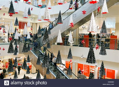 christmas decorations in a john lewis store bristol uk