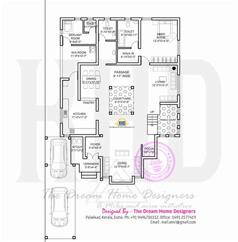ground floor plan modern house with floor plan kerala home design and