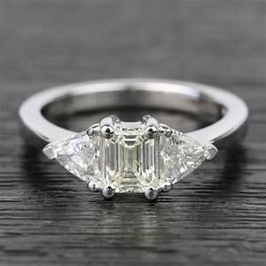 1 5 Carat Diamond Price Chart 0 71 Carat Emerald Trillion Diamond Engagement Ring