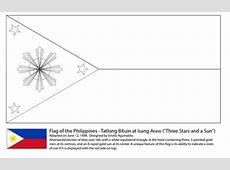 Flag of The Philippines coloring page Free Printable