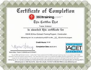 osha certification bing images With osha 10 certificate template