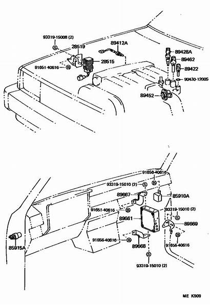 Toyota Temp Coolant Engine Water Sensor 1992