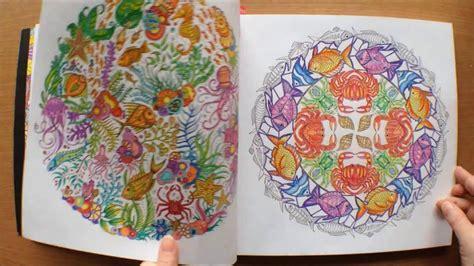 lost ocean  johanna basford colouring book flipthrough
