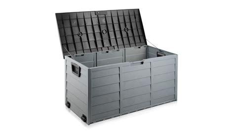 buy giantz  outdoor storage box greyblack harvey
