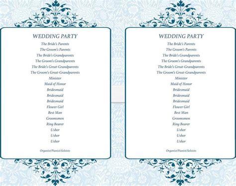 wedding program templates simple wedding program templates free premium templates forms sles for jpeg png