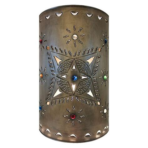 mexican tin lighting collection toluca wall sconce lamw