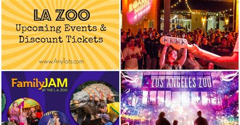 los angeles zoo discount tickets 7 50 family jam