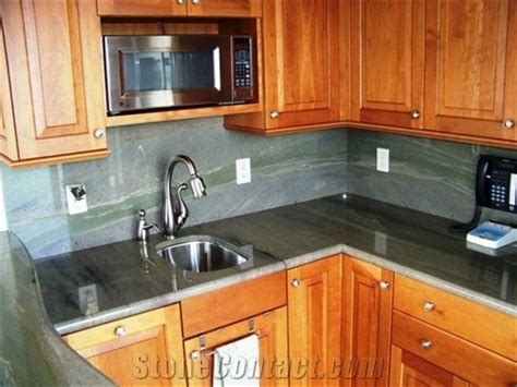 wild sea green granite kitchen countertop  united