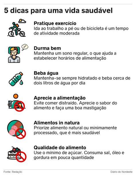 Mantenha uma vida saudável com cinco dicas - Verso ...