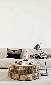 Table Basse Tronc : l 39 id e d co du dimanche la table basse avec un tronc d arbre tranch floriane lemari ~ Teatrodelosmanantiales.com Idées de Décoration