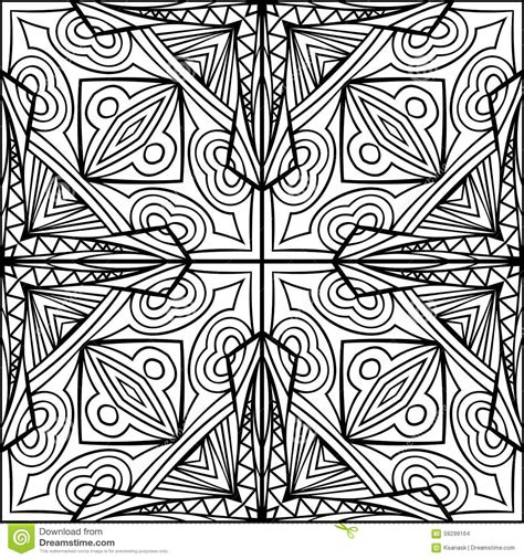 Abstract Celtic Cross Zentangle Style Black And White
