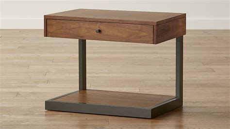 c shaped nightstand blair nightstand crate and barrel