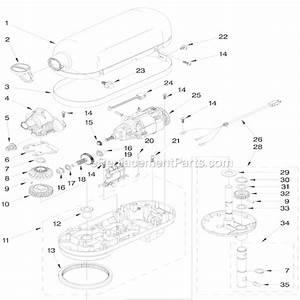 KitchenAid 4KV25H0XWH5 Parts List And Diagram