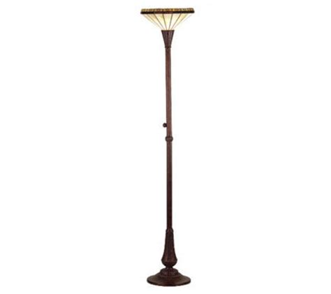 tiffany style 72 quot h crestwood torchiere floor l