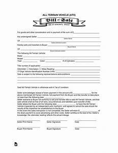 arizona dmv bill of sale all terrain vehicle atv bill of sale form eforms