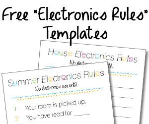 Electronic Checklist Template Quot Summer Electronics Quot Checklist And Free Blank Quot House