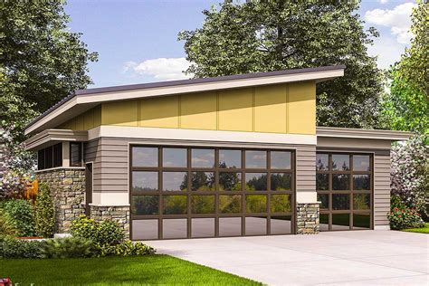 Contemporary Garage Plan-am