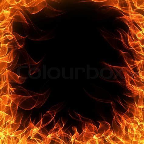 m design kamin feuer und flamme rahmen auf schwarzem hintergrund stockfoto colourbox