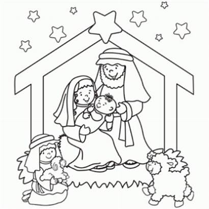 Nativity Christmas Printables Coloring Pages Printable Jesus
