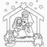 Nativity Christmas Printables Coloring Printable Pages Jesus Preschool Scene Religious Pdf Sheets Birth Sheet Colouring Craft Religion Stable Fun Downloadable sketch template