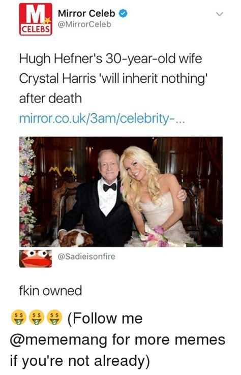 Hugh Hefner Memes - 25 best memes about crystal harris crystal harris memes