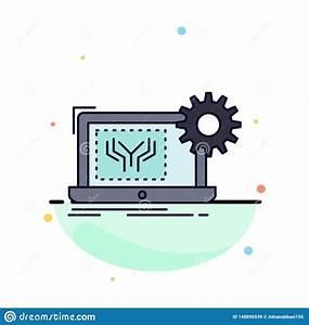 Blueprint, Circuit, Electronics, Engineering, Hardware, Flat, Color, Icon, Vector, Stock, Vector