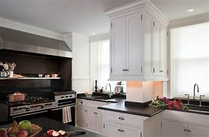 white cabinets with black countertops transitional With kitchen colors with white cabinets with forth rail bridge wall art