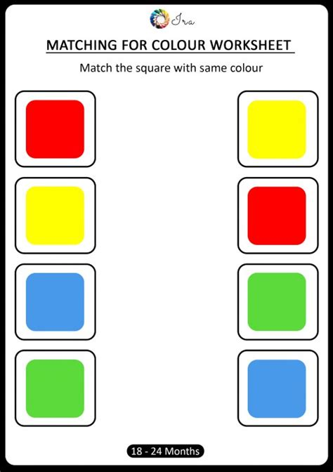 matching colors free downloadable matching colors worksheets 18 24