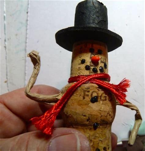 wine cork snowman ornament favecraftscom