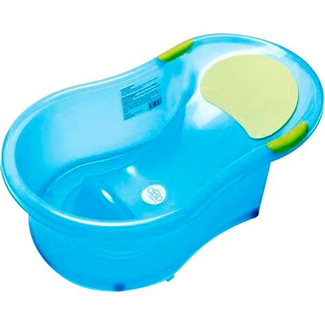 baignoire bébé 0 6 mois transat intégré bleu translucide