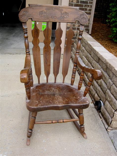 wooden rocking chair home design inside