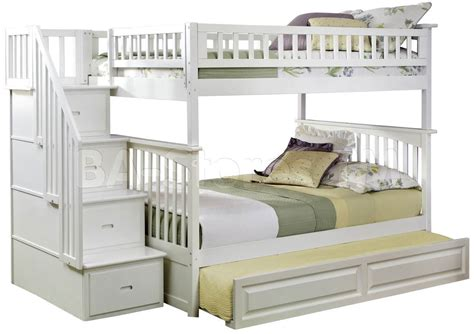 white bunk bed with trundle sale 2356 20 columbia staircase bunk bed