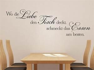 Sprüche Für Die Küche : wandtattoo wo die liebe den tisch deckt schmeckt das ~ Watch28wear.com Haus und Dekorationen