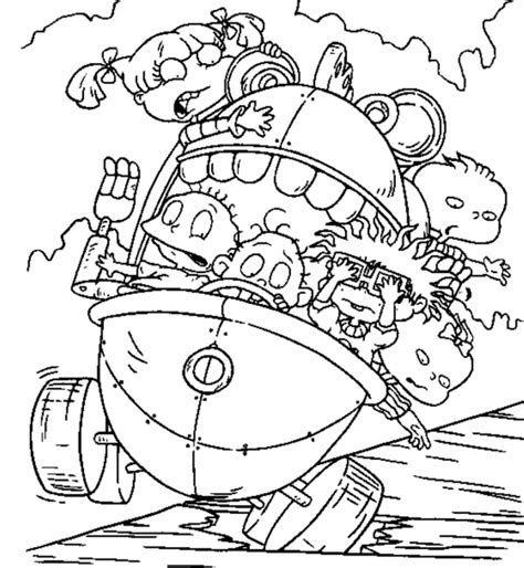 rugrats nickelodeon rugrats coloring pages kids simple