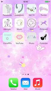 My iPhone home screen (made with CocoPPa) #cocoppa #iphone ...
