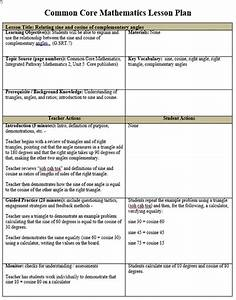 common core lesson plan template peerpex With lesson plan template using common core standards
